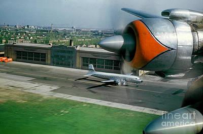 Douglas Dc-7 Taking Off Poster by Wernher Krutein