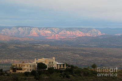 Douglas Mansion And Red Rocks Of Sedona Poster