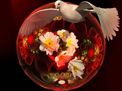 Dove Of Peace Poster by Nancy Pauling