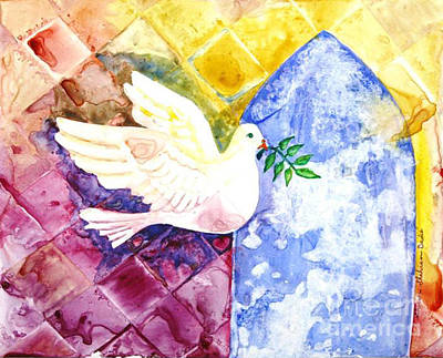 Dove Of Peace Poster by Shirin Shahram Badie