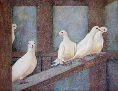 Doves Poster by Jane Landry  Read