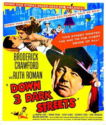 Down 3 Dark Streets, Aka Down Three Poster by Everett