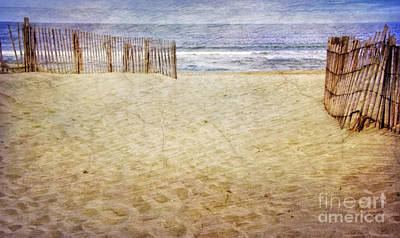 Poster featuring the photograph Down The Shore by Debra Fedchin