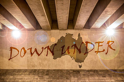Down Under Map  Poster