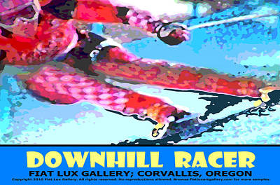 Downhill Racer Poster by Michael Moore