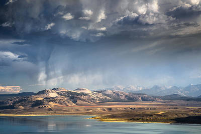 Downpour Over Crater Mountain Poster by Alexander Kunz