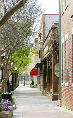 Downtown Aiken South Carolina Poster by Andrea Anderegg