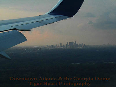 Downtown Atlanta And The Georgia Dome Poster by Michelle Adcock