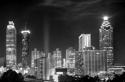 Downtown Atlanta Skyline Poster by Mark Andrew Thomas