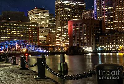Downtown Boston Poster by Juli Scalzi