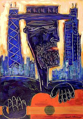 Downtown Chicago Blues - Chicago Skyline Art Poster by Joseph Catanzaro