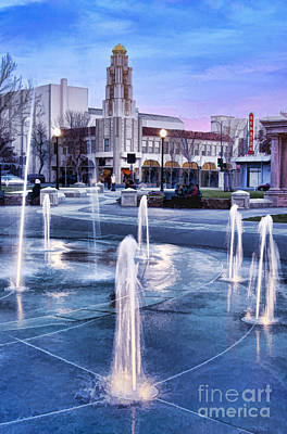 Downtown City Plaza Chico California Poster