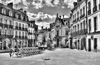 Downtown Dijon Bw Poster by Mel Steinhauer