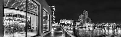 Downtown Grand Rapids In Black And White Poster by Twenty Two North Photography