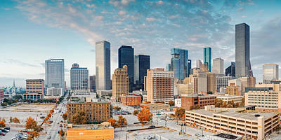 Downtown Houston Panorama Poster