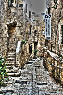 Poster featuring the photograph Downtown In Jerusalems Old City by Doc Braham