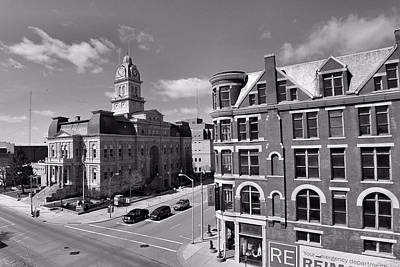 Downtown Lima Ohio Aerial Poster by Dan Sproul