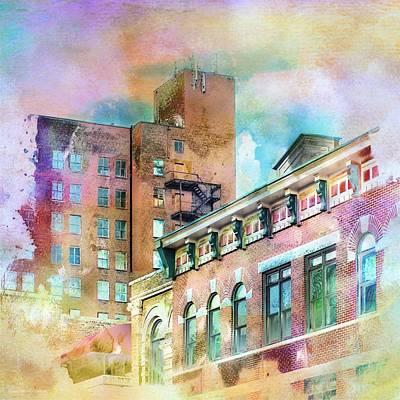 Downtown Living In Color Poster