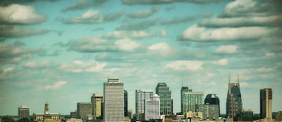 Downtown Nashville After Sunrise Poster by Jai Johnson
