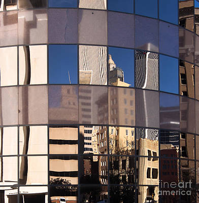 Poster featuring the photograph Downtown Reflections by Lawrence Burry