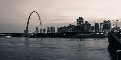 Downtown St. Louis In Twilight Poster