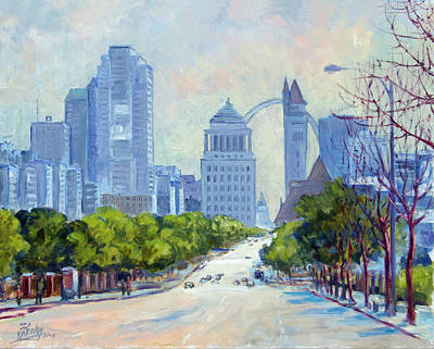 Downtown St.louis From Market Street Poster