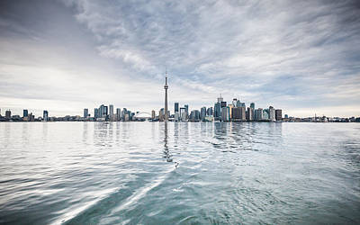 Poster featuring the photograph Downtown Toronto Skyline From The Ferry by Anthony Rego