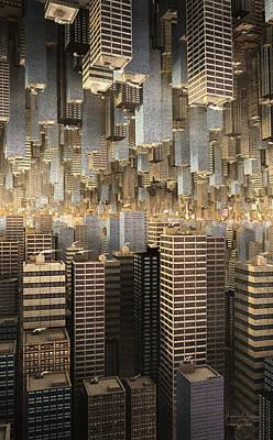 Poster featuring the digital art Downtown/uptown by Matt Lindley