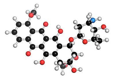 Doxorubicin Cancer Drug Molecule Poster by Molekuul