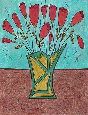 Dozen Roses Poster by Ray Ratzlaff