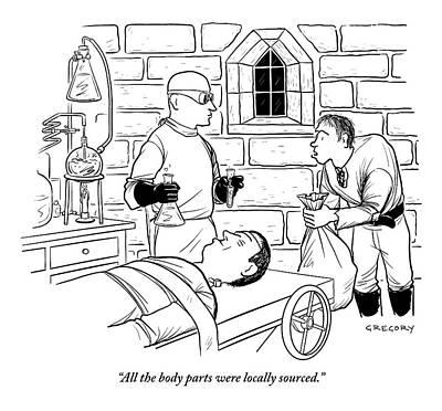 Dr. Frankenstein Is Creating His Monster Poster