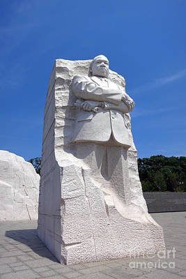 Dr Martin Luther King Memorial Poster by Olivier Le Queinec