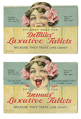 Dr Miles Laxative Tablets Poster by Science Source