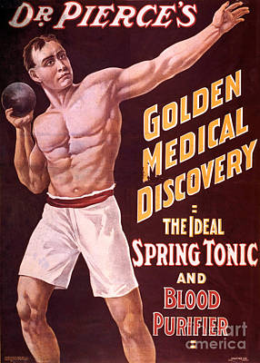 Dr Pierces Spring Tonic And Blood Poster by Science Source