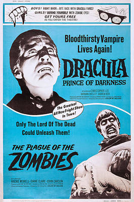 Dracula Prince Of Darkness, The Plague Poster by Everett