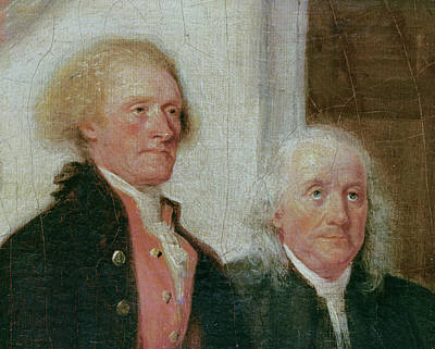 Drafting The Declaration Of Independence, 28th June 1776, Detail Of Thomas Jefferson 1743-1826 Poster by John Trumbull