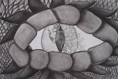Drag'nass Designs 3 Through The Dragon's Eye Poster by Rebecca Wiltfong Frisbee