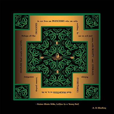 Dragon Egg Celtic Cross Poster