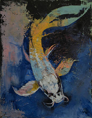 Dragon Koi Poster by Michael Creese