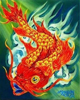 Dragon Koi Poster