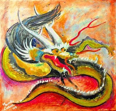 Dragon Of Washington Poster by Marcello Cicchini