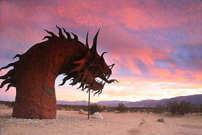 Dragon Scupture 2 Poster by Scott Cunningham