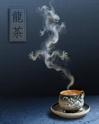 Dragon Tea Blue Poster