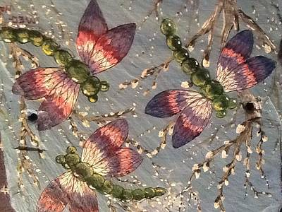 Poster featuring the painting Dragonflies 5 by Megan Walsh