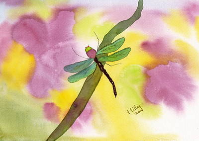 Dragonfly Dream Poster by Teresa Tilley