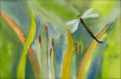 Dragonfly Fantasy Flight Poster by Teresa Tilley