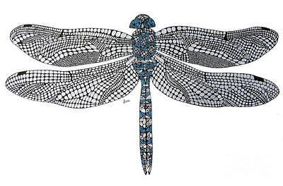 Dragonfly Poster by Leanne Karlstrom