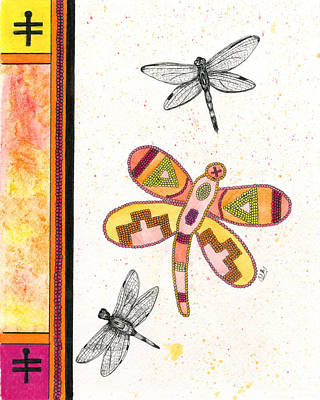 Dragonfly Summer Poster by Christine Matha