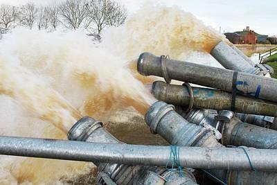 Draining Somerset Levels Floods Poster