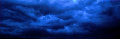 Dramatic Blue Clouds Poster